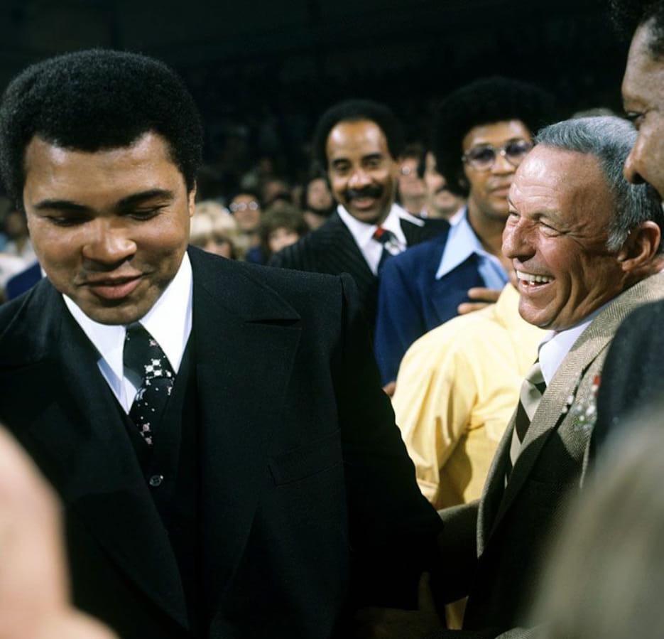 Muhammad Ali with Frank Sinatra