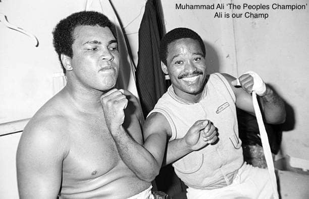 Muhammad Ali and Wilfred Benítez in the late 1970s.