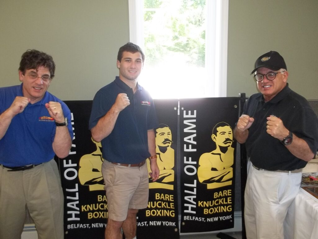 Alex, Alexander, and John Rinaldi at the Bare Knuckle Boxing Hall of Fame.