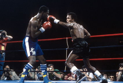 Kevin Howard vs. Sugar Ray Leonard in 1984.