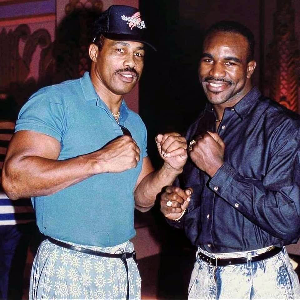 Former Heavyweight champion Ken Norton with future Heavyweight champion Evander Holyfield.