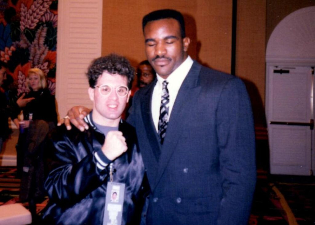 John Rinaldi with Evander Holyfield in 1989.