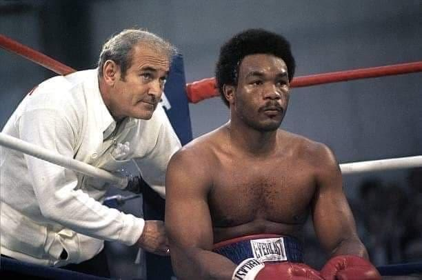 Trainer Gil clancy with George Foreman