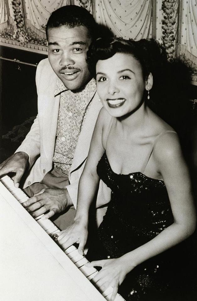 Joe Louis with singer Lena Horne