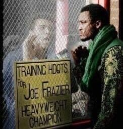 Muhammad Ali taunting Joe frazier before their 1971 Fight of the Century.
