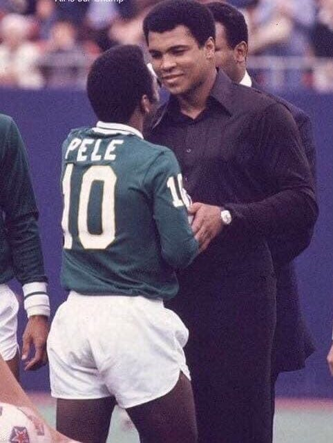 Muhammad Ali with Pele