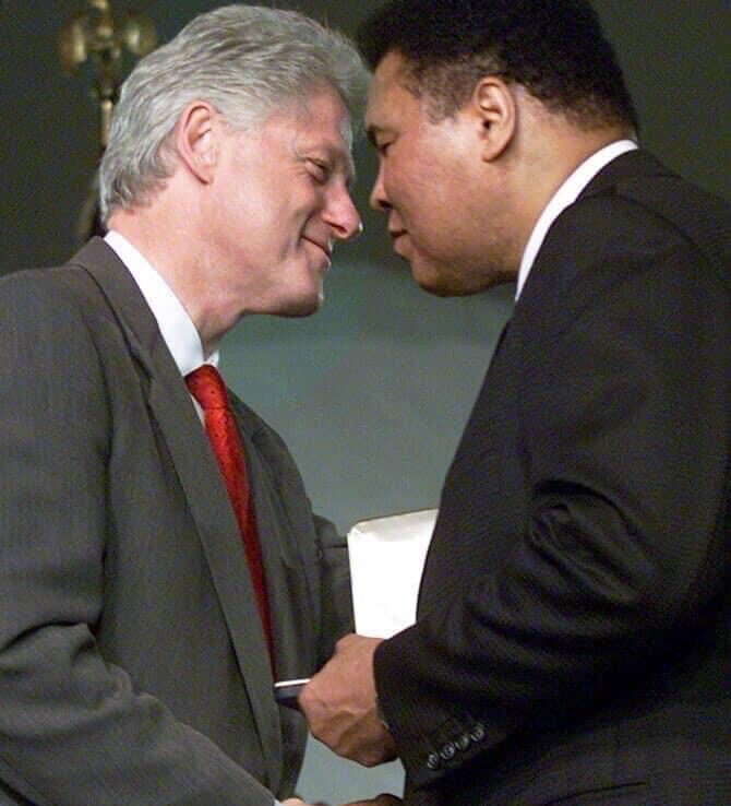 Muhammad Ali with President Bill Clinton