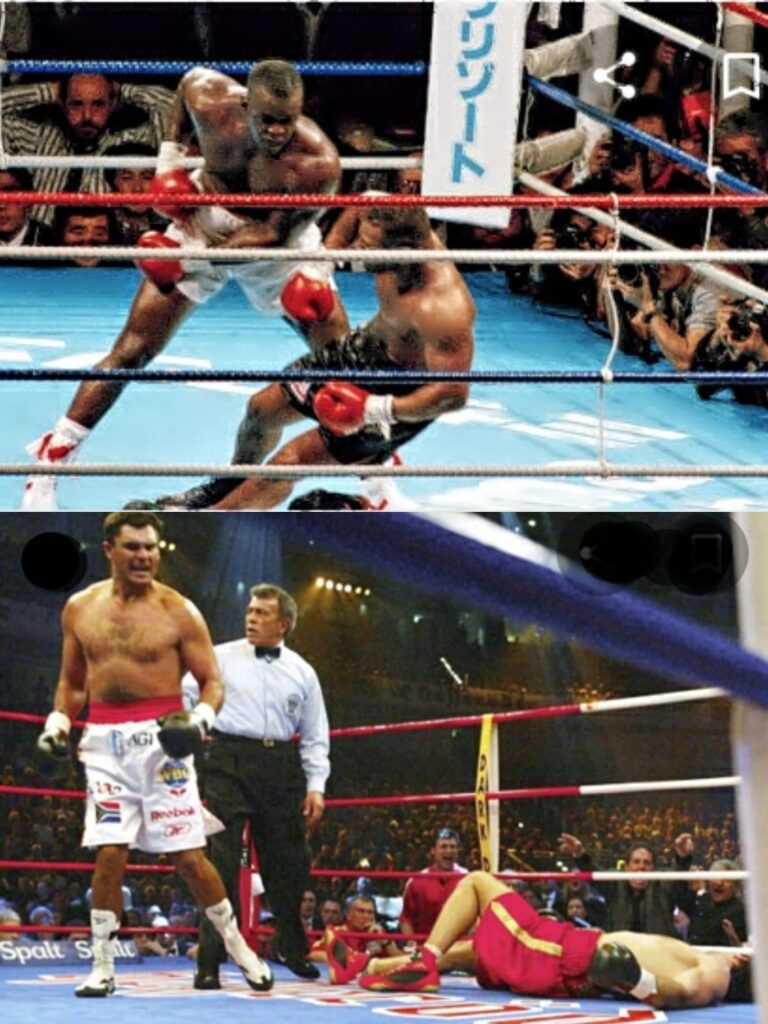 Two great Heavyweight Upsets - Buster Douglas KO of Mike Tyson in 1990 and Corey Sanders KO of Wladimir Klitschko in 2003.