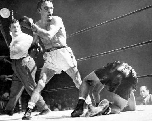Carmen Basilio knocking out Tony DeMarco II (Fight of the Year 1955)