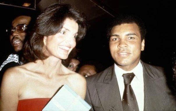 Muhammad Ali with Jackie Kennedy Onassis