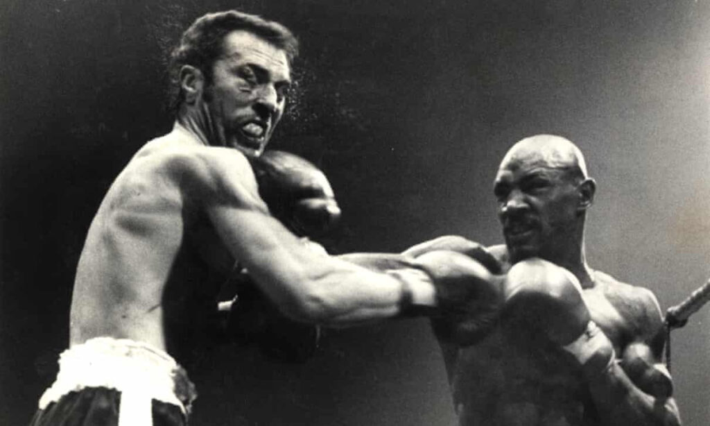 Alan Minter losing his titles to Marvelous Marvin Hagler in 1980.