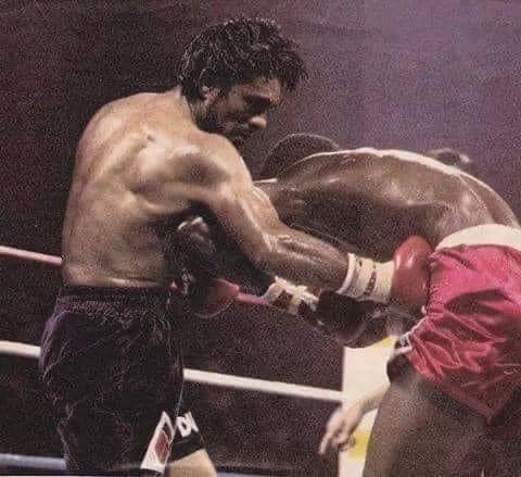 Roberto Duran demolishing Davey Moore in 1983 for the WBA junior middleweight at a sold out Madison Square Garden.