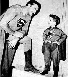 Former boxer George Reeves with Little Ricky on the iconic I Love Lucy show