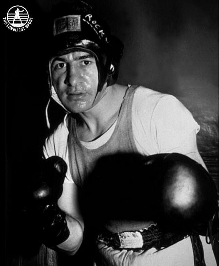 Rocky Graziano in training.