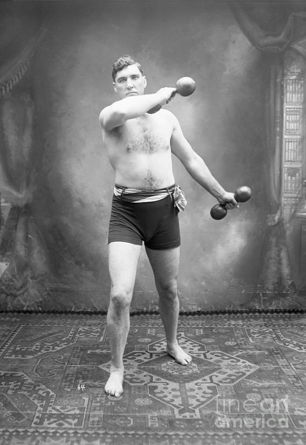 Heavyweight Champion Jess Willard in Training.