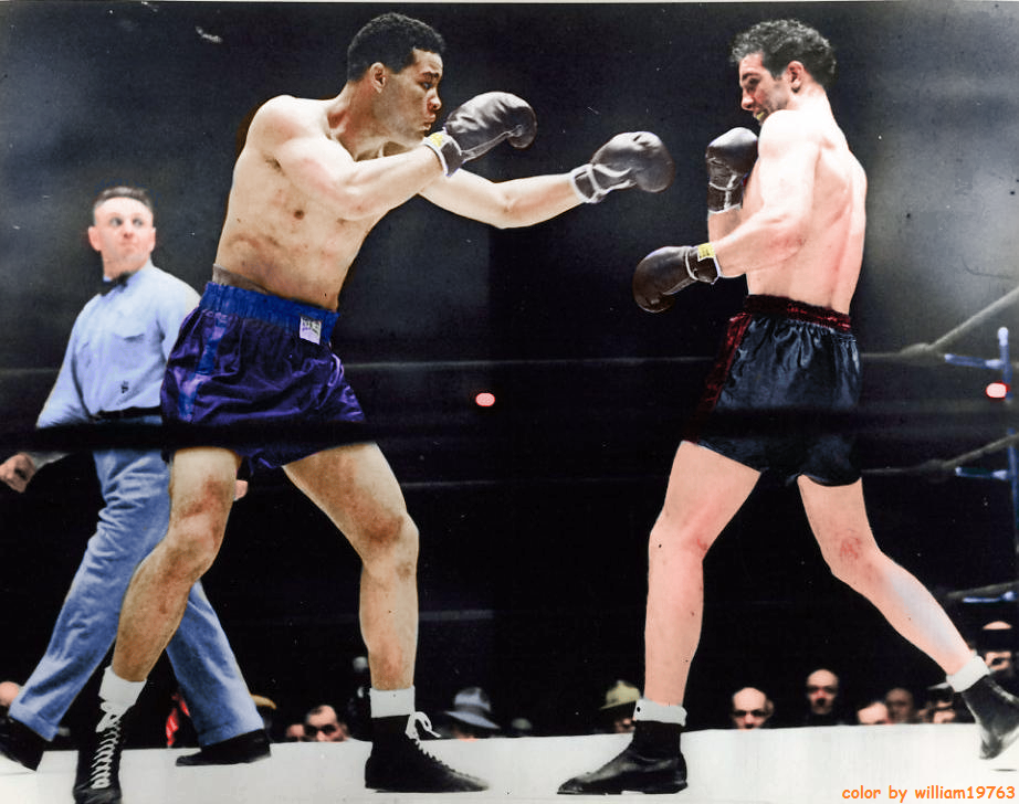 Joe Louis (L) vs. Billy Conn (R)