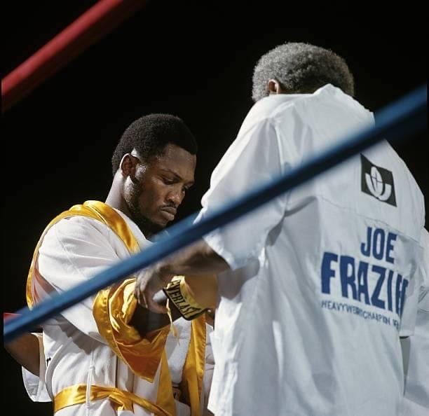 Heavyweight Champion getting ready to defend his title against challenger George Foreman in Jamaica in 1972.