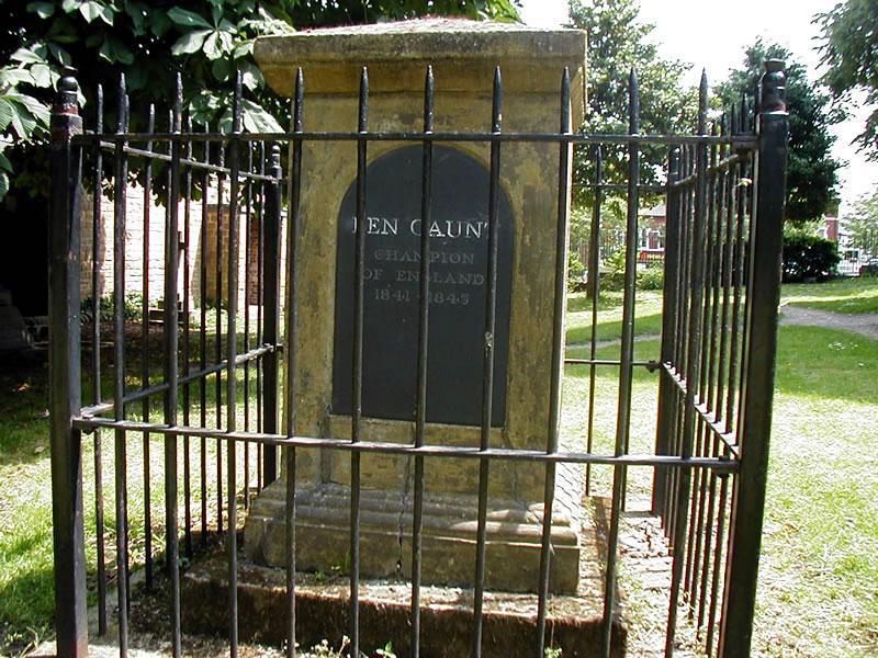 en Caunt's grave in the St. Mary Magdalene Churchyard.